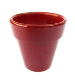 Flowerpot red simple Royalty Free Stock Photos