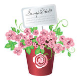 Flowerpot with roses Royalty Free Stock Images