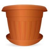 Flowerpot with saucer Stock Photos