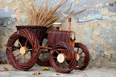 Flowerpot - trattore Fotografia Stock Libera da Diritti
