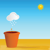 Flowerpot vector art color part two Royalty Free Stock Photos