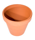 Flowerpot on white Stock Photo