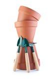 flowerpots εργαλεία πυραμίδων κήπ&ome Στοκ Φωτογραφίες