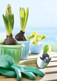 flowerpots φτυάρι κήπων λουλουδιών Στοκ εικόνα με δικαίωμα ελεύθερης χρήσης