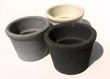 Flowerpots Fotografie Stock