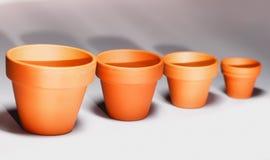 Flowerpots Zdjęcie Stock