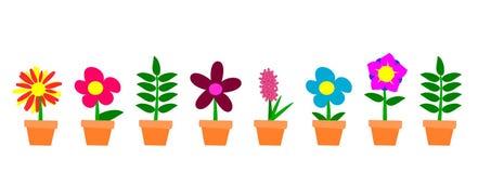 Flowerpots ilustração stock
