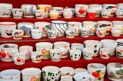 Flowerpots cerâmicos imagem de stock