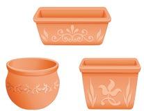 flowerpots mexican Royaltyfria Bilder