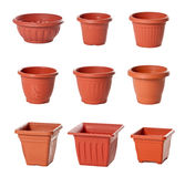 flowerpots salowy rośliien klingerytu set Fotografia Stock