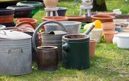 flowerpots starzy Obraz Stock