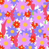 Flowerpower background. Background made of different kinds of colorful flowers Stock Image