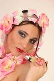 Flowerpower Mädchen stockfoto