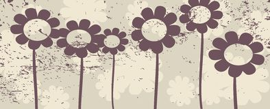 Flowers. Vector floral grunge, background design Royalty Free Stock Images