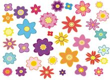 Flowers. Background from multi-coloured colours royalty free illustration