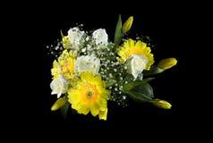 Flowers. Bucket isolated on black Stock Image