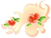 Flowers. Vector illustration of red roses Royalty Free Stock Photography