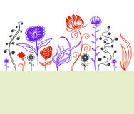 Flowers. A hand drawn flower doodles collection Royalty Free Stock Image
