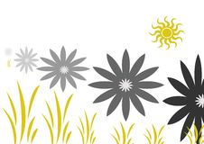 Flowers. Illustration drawing of floral background Royalty Free Stock Images