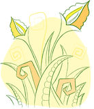 Flowers. Element for design  illustration Royalty Free Stock Photography