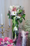 Flowers. Festively issued bouquet from natural flowers Stock Images