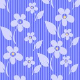 Flowers. On a blue striped background, an illustration Royalty Free Stock Photography