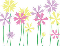 Flowers. Growing in a garden Vector Illustration