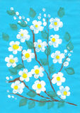 Flowers. Simply flowers drawn by brush stock illustration