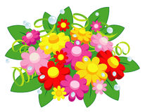 Flowers. Funny  bunch of colored flowers Stock Photography