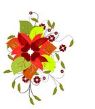 Isolated floral colorful decoration with flowers a Royalty Free Stock Images