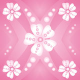 Flowers. Abstract pink background with flowers Royalty Free Illustration
