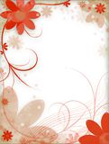 Flowers. Abstract illustration: flowers on the background Royalty Free Stock Photography