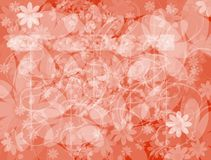 Flowers. Abstract illustration: flowers on the background Royalty Free Stock Image