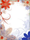 Flowers. Abstract illustration: flowers on the background Stock Photography