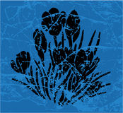 Flowers. Work with vectors illustration Stock Image