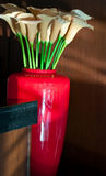 Flowers. Bouquet of flowers in red vase Stock Photos