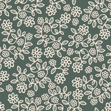 Flowers. Seamless background texture with flowers and leaves,  pattern Vector Illustration