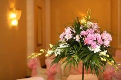 Flowers. A wedding ballroom for weddings Stock Photo