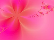 Flowers. Roseate floral background. Fractal illustration Stock Images
