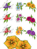 Flowers. Vector flowers easy to resize or change color Royalty Free Stock Photography
