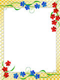 Flowers. Frame for a photo with a flowers on a lattice in a vector Royalty Free Stock Images