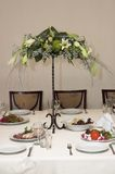 Flowers. Holiday table appointments stock image