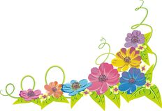 Flowers. Illustration of flowers on white background Stock Photography