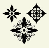 Flowers 5 (decorative Ornament) Royalty Free Stock Photography