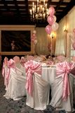 Flowers. A nice and beautiful wedding room Stock Images