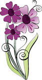 Flowers. Stylish bouquet of violet flowers Stock Photos