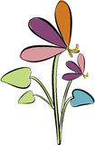 Flowers. Abstract color flowers - vector illustration Royalty Free Stock Photos