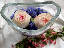 Flowers. In a glass vase Royalty Free Stock Photo
