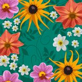 Flowers. Floral background Stock Photo
