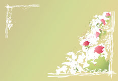 Flowers abstract background royalty free illustration